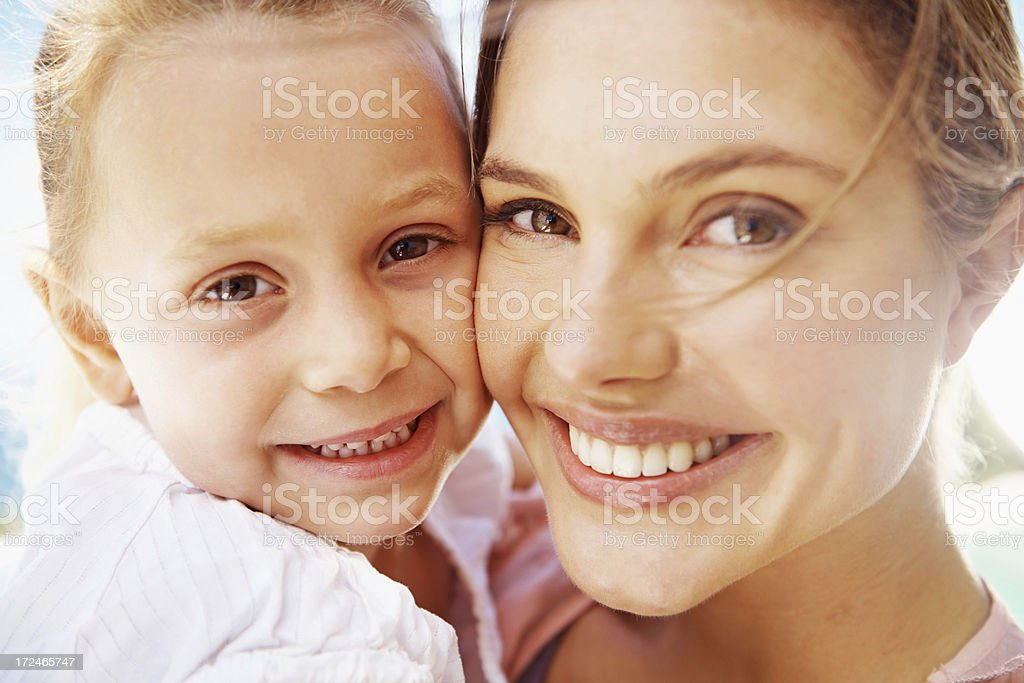 Can you see the family resemblance stock photo