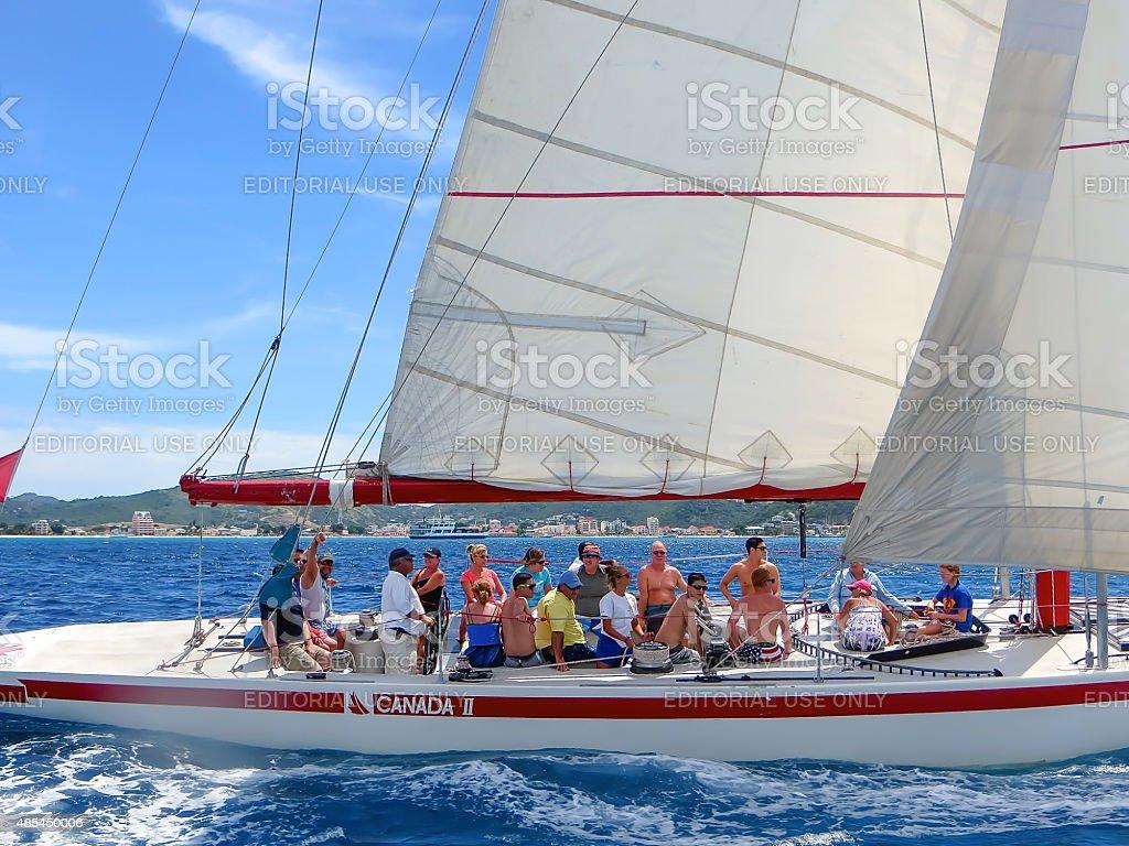 Canada 2 Yacht stock photo
