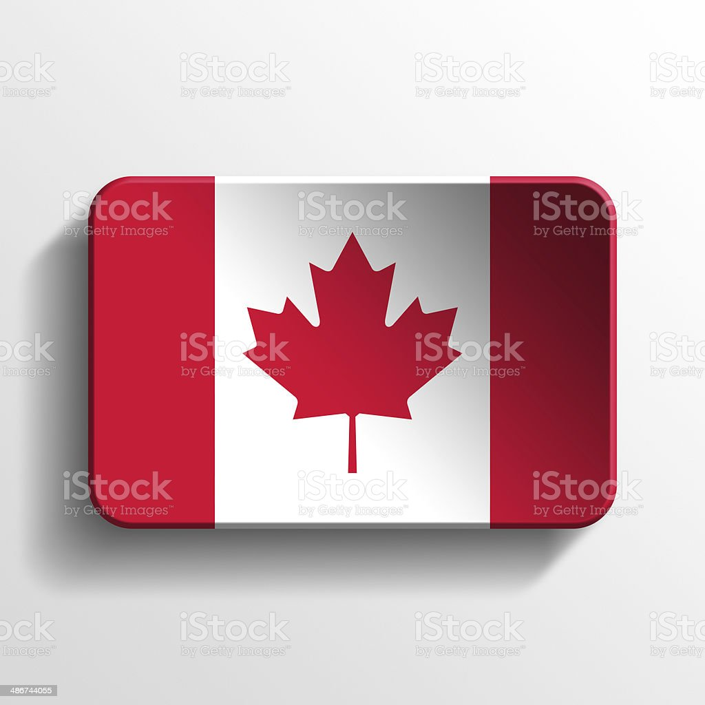 Canada 3D button stock photo