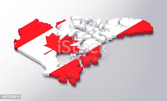 istock Canada 3D map white background 657933618