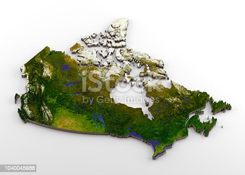 171057063istockphoto Canada 3D Physical Map with Relief 1040045688