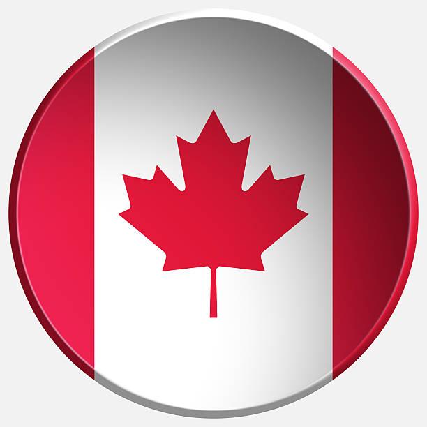 kanada 3d-runde schaltfläche - kanada rundreise stock-fotos und bilder
