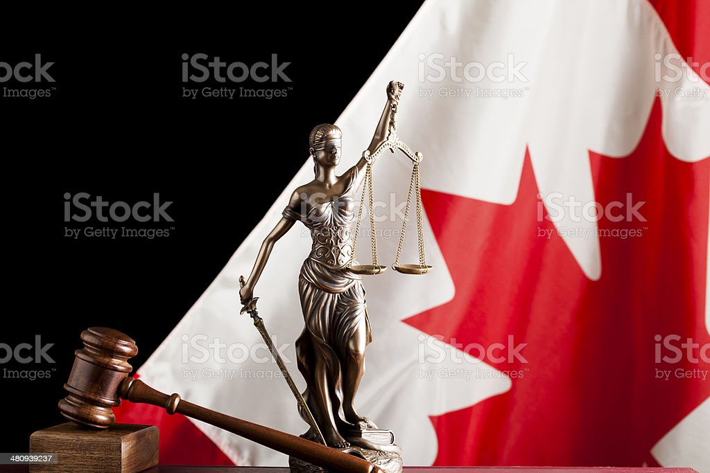 Canada and justice system stock photo