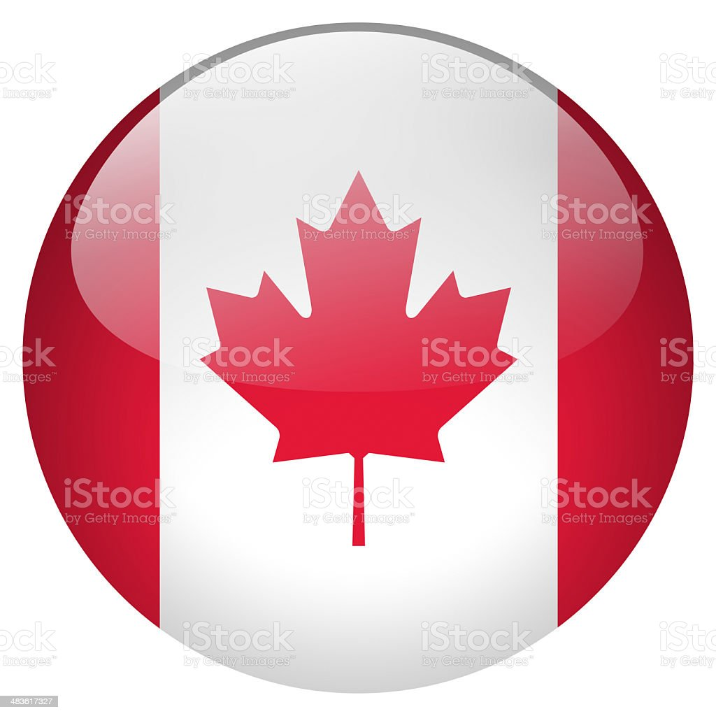 canada button stock photo