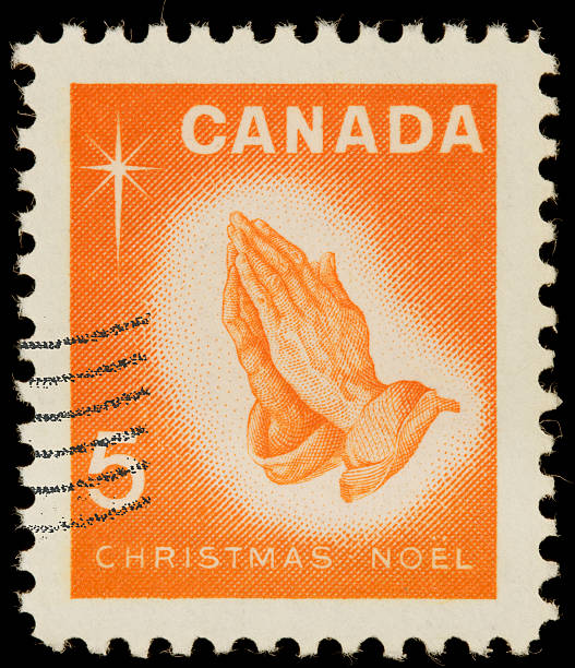 Canada Christmas prayer postage stamp stock photo