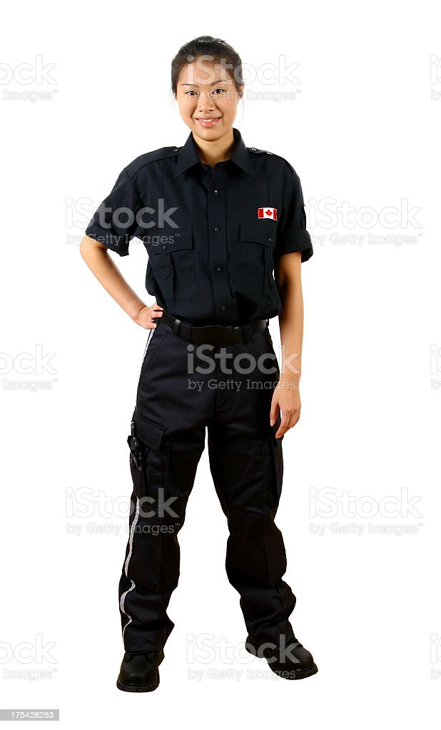 Canada Customs Officer 01 royalty-free stock photo