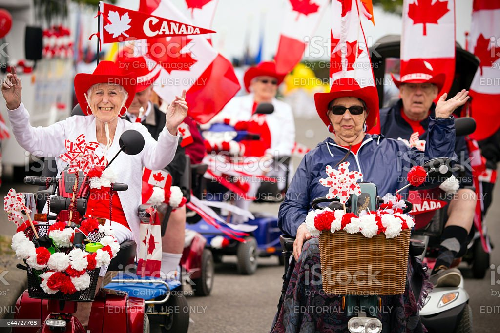Canada Day Celebration stock photo