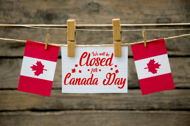 Canada day , closed stock photo