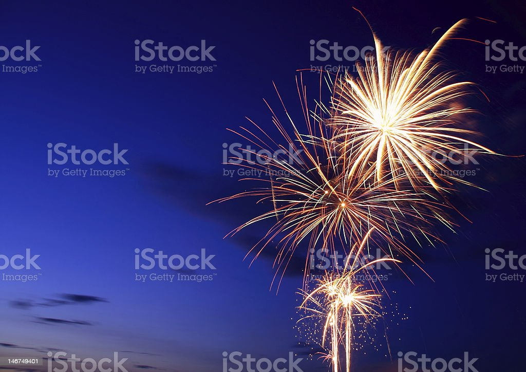 Canada Day Fireworks royalty-free stock photo