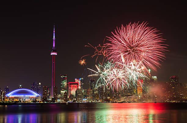 Canada Day Fireworks stock photo