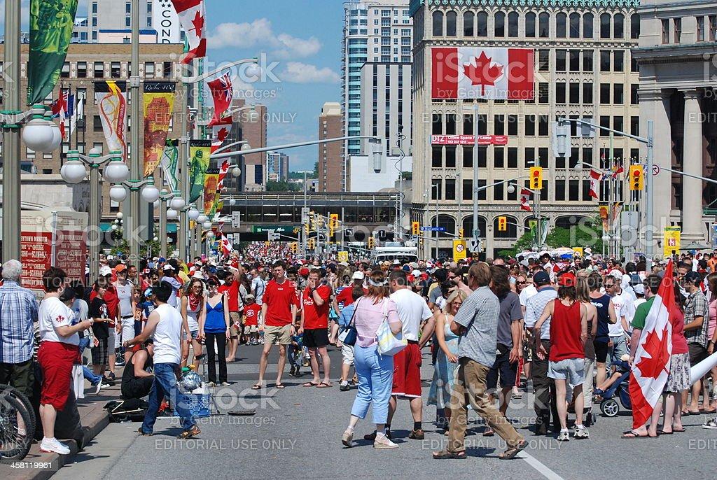 Canada Day in Ottawa stock photo