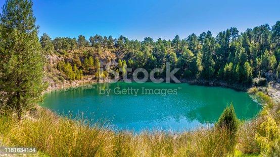 Canada del Hoyo in Cuenca Torcas lagoon called Laguna de la Gitana