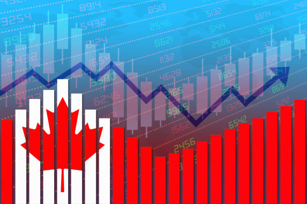 Canada Economy Improves and Returns to Normal After Crisis stock photo