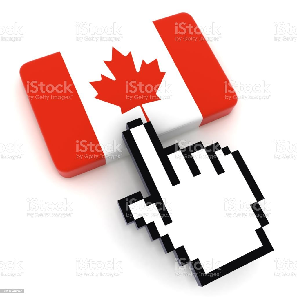 Canada flag button royalty-free stock photo