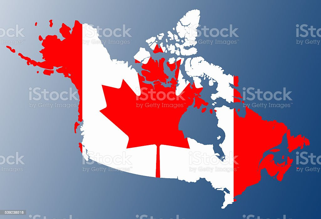 Canada flag map royalty-free stock photo