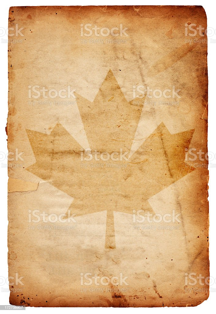 Canada Flag Paper XXL royalty-free stock photo