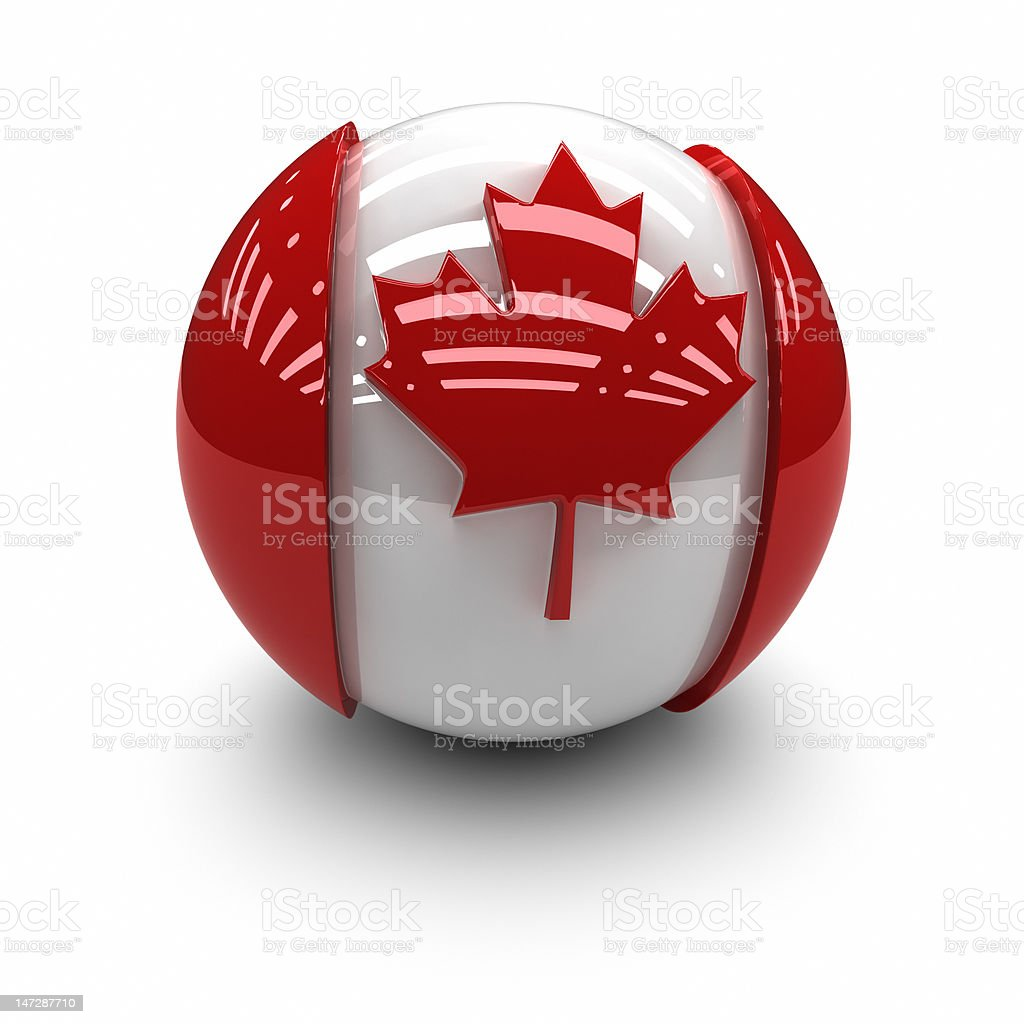 3D  - Canada Flag royalty-free stock photo