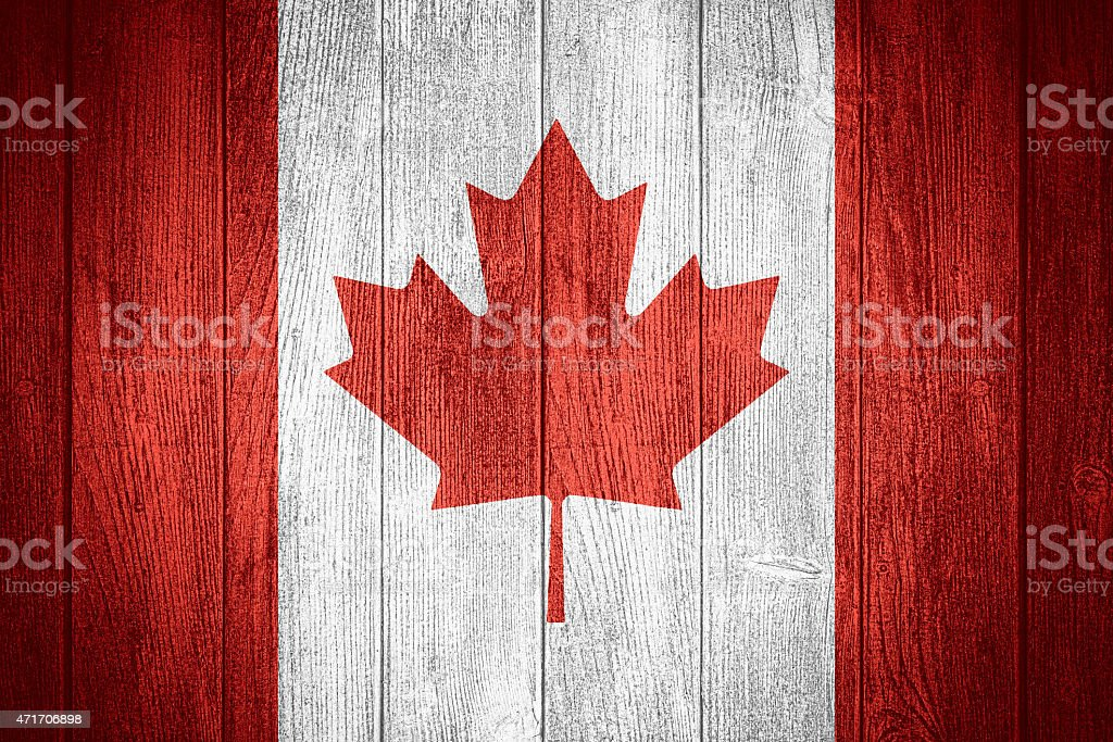 Canada flag stock photo