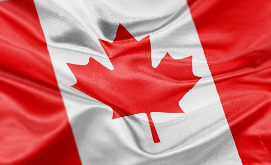 High resolution digital render of Canada flag.