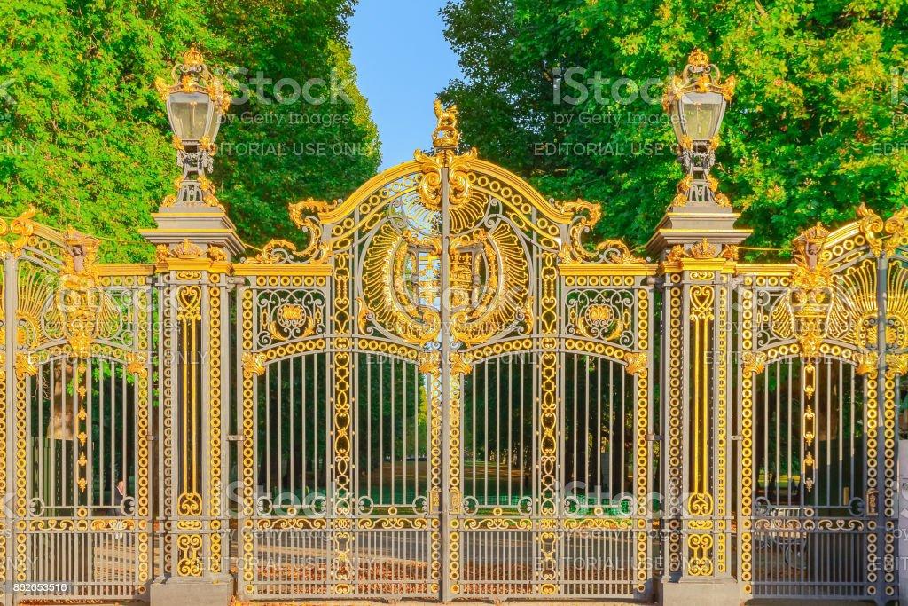 Canada Gate, a grand entrance into the Green Park stock photo