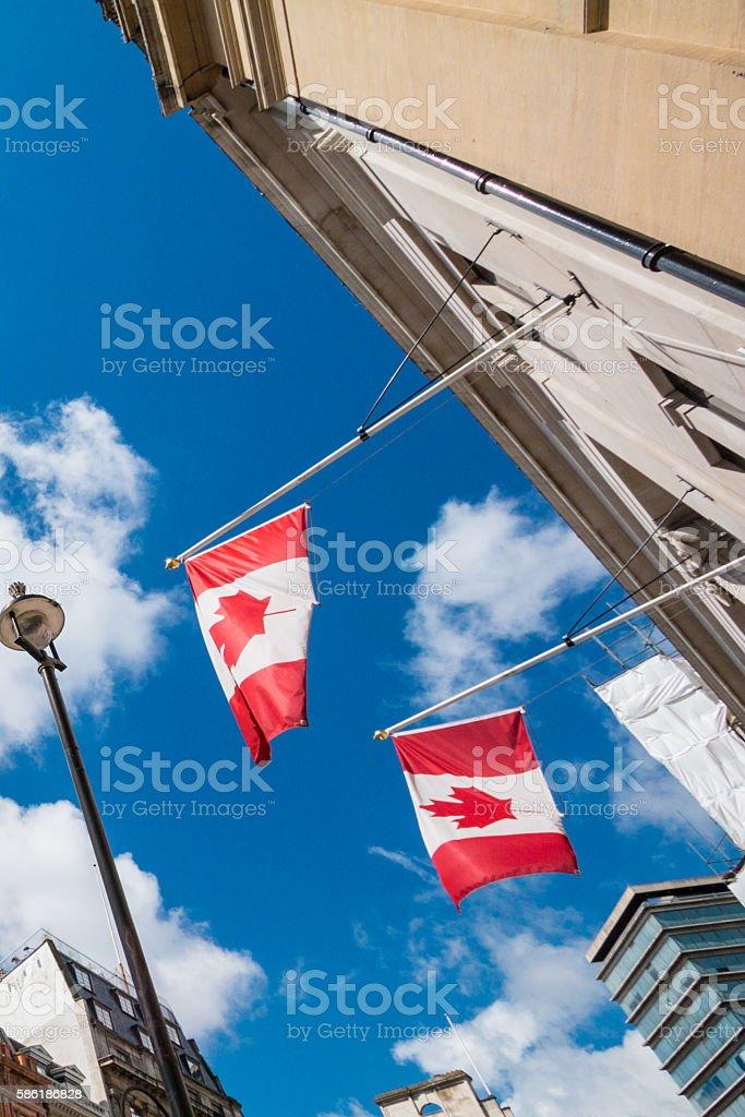 Canada House in Trafalgar Square, London stock photo