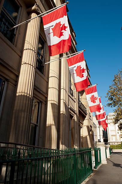 Canada House, London, UK stock photo
