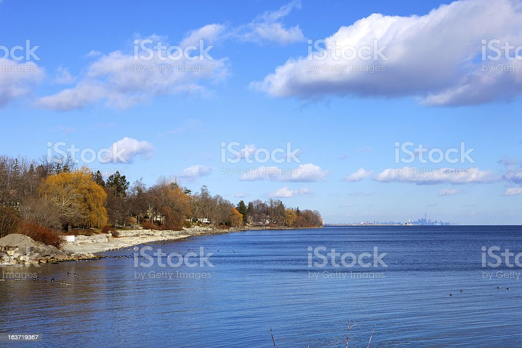 Canada - Lake Ontario viewed from Oakville stock photo