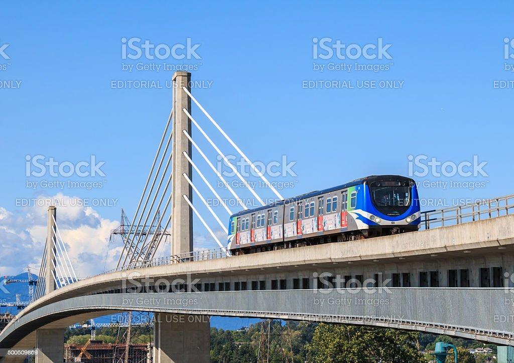 Canada Line Bridge stock photo