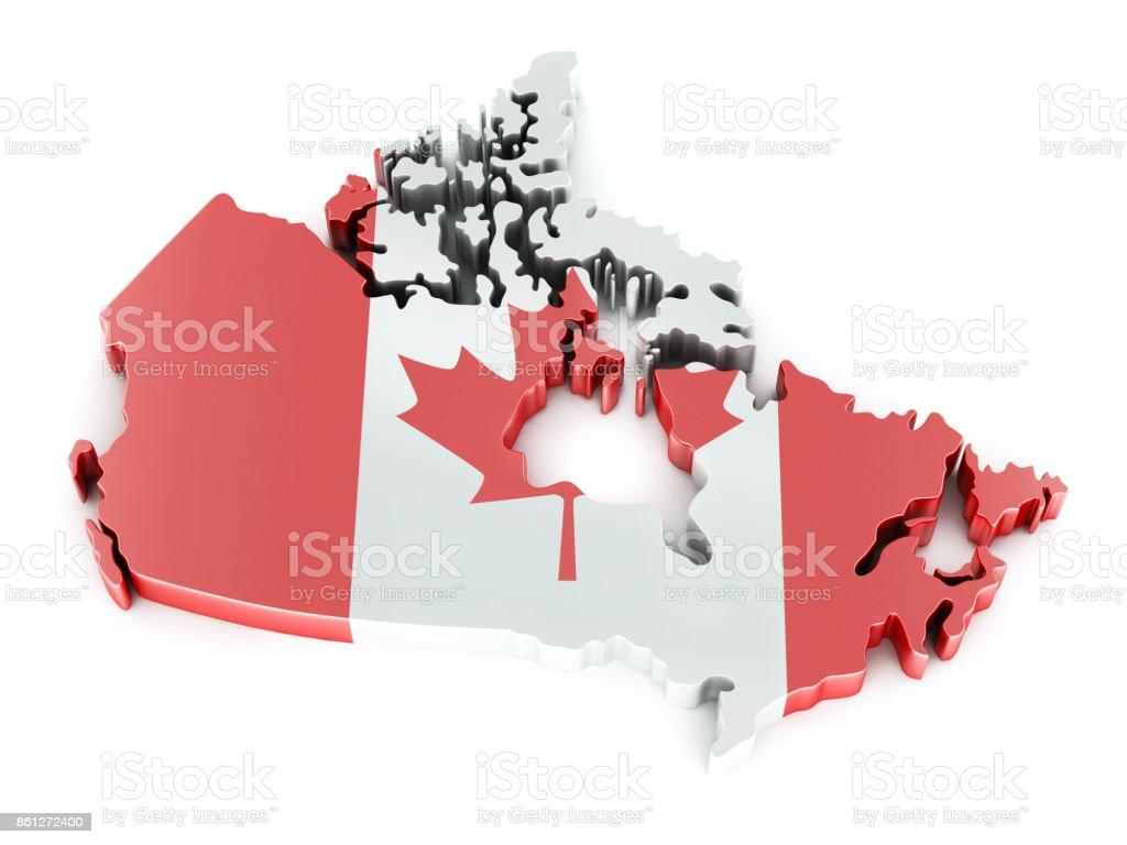 Canada Map. 3D Illustration stock photo