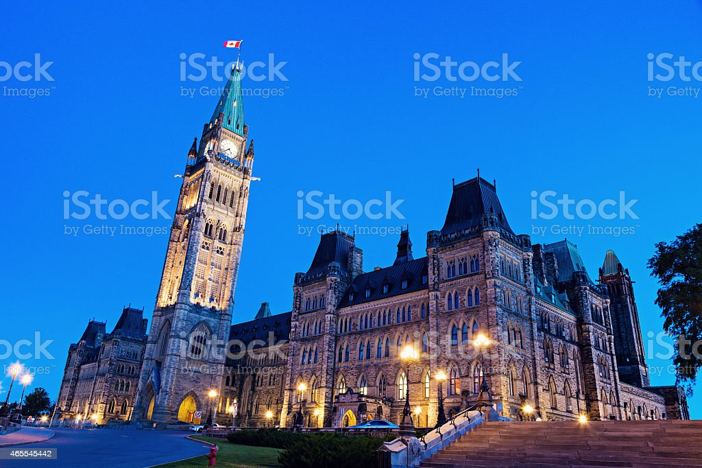 Canada Parliament Building in Ottawa stock photo