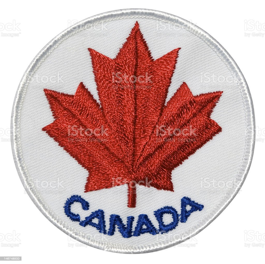 Canada patch stock photo