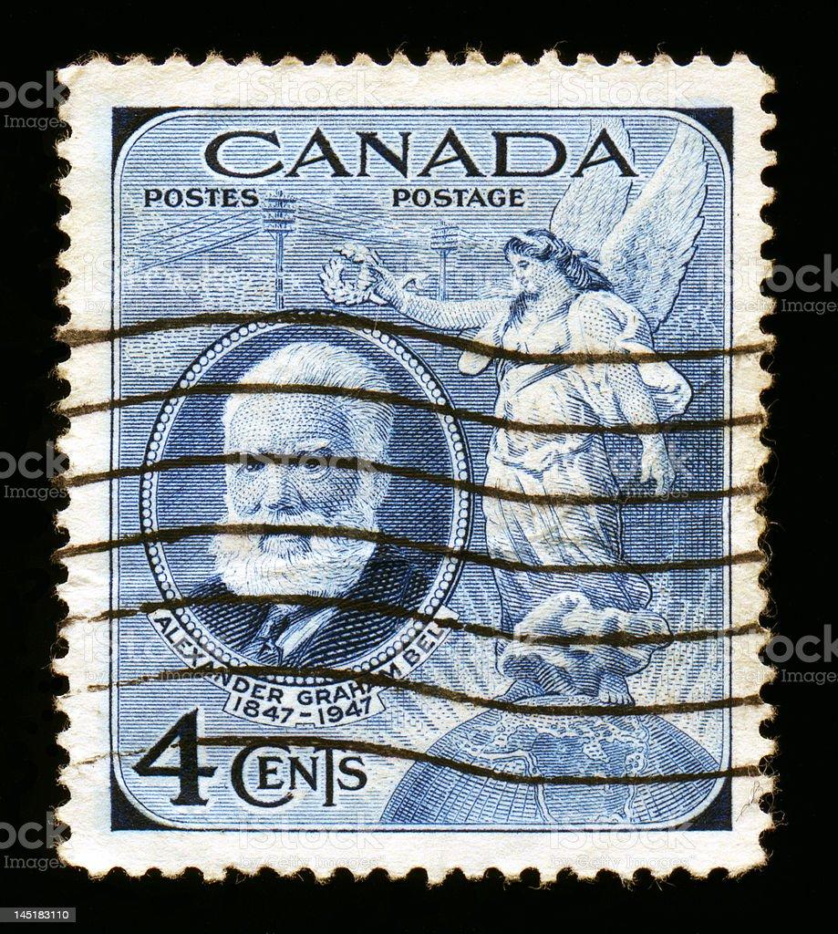 Canada Postage: Alexander Graham Bell stock photo