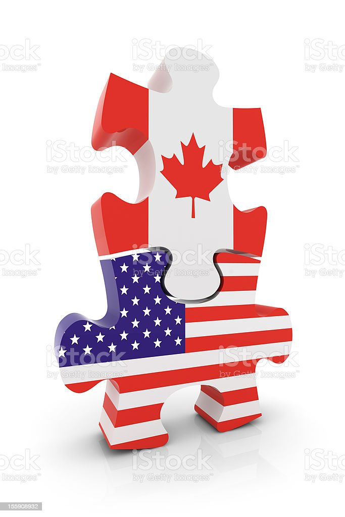 USA Canada Puzzle Concept royalty-free stock photo