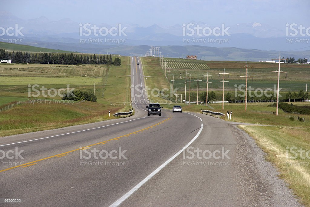 Canada road royalty-free stock photo