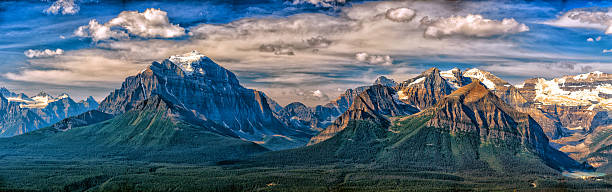 Canada Rocky Mountains Panorama landscape view stock photo