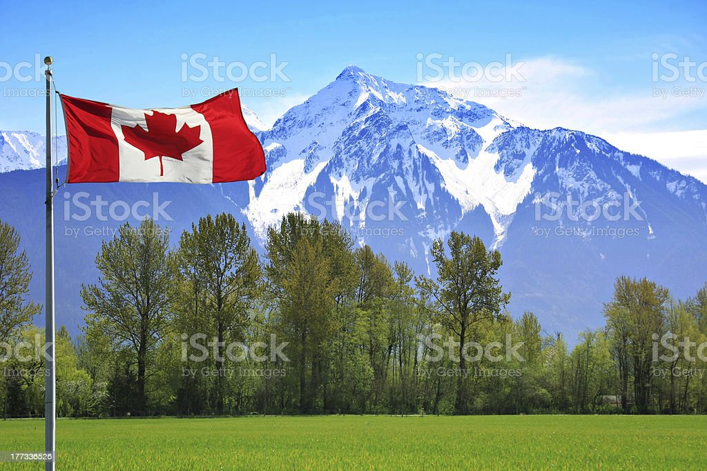 Canada Rocky mountains stock photo