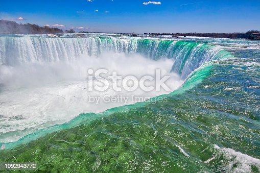 Canada, Scenic Niagara Waterfall, Horseshoe Falls, Canadian side