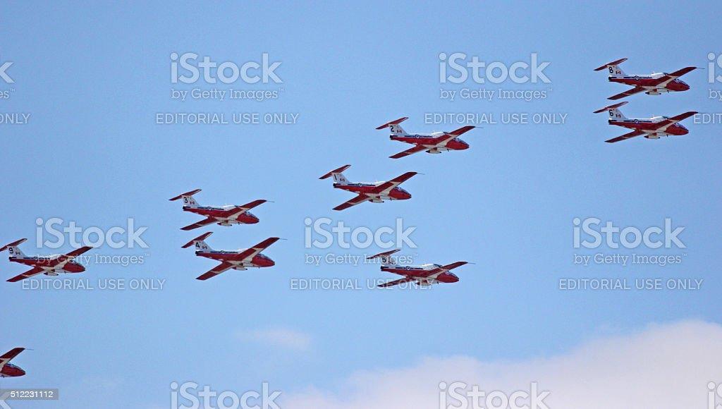 Canada: Snowbirds over Toronto stock photo