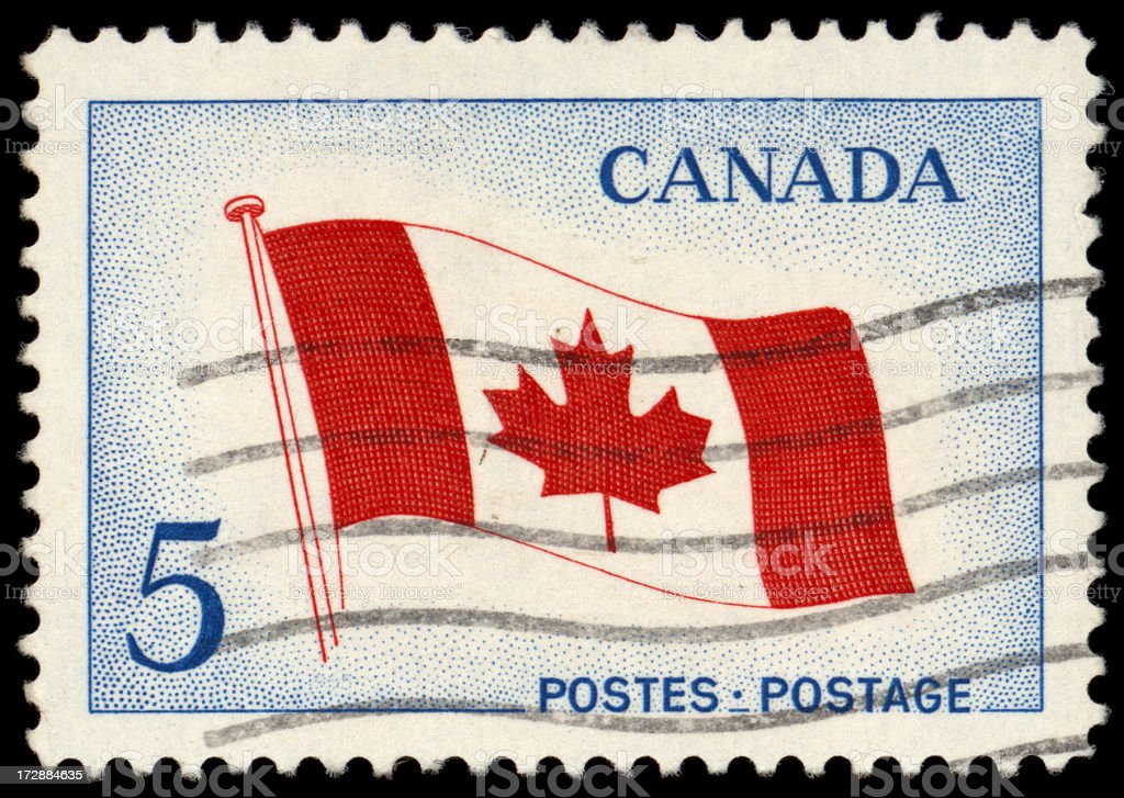 Canada Stamp stock photo