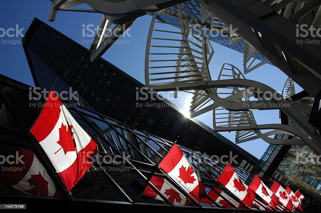 canada stand for thee stock photo