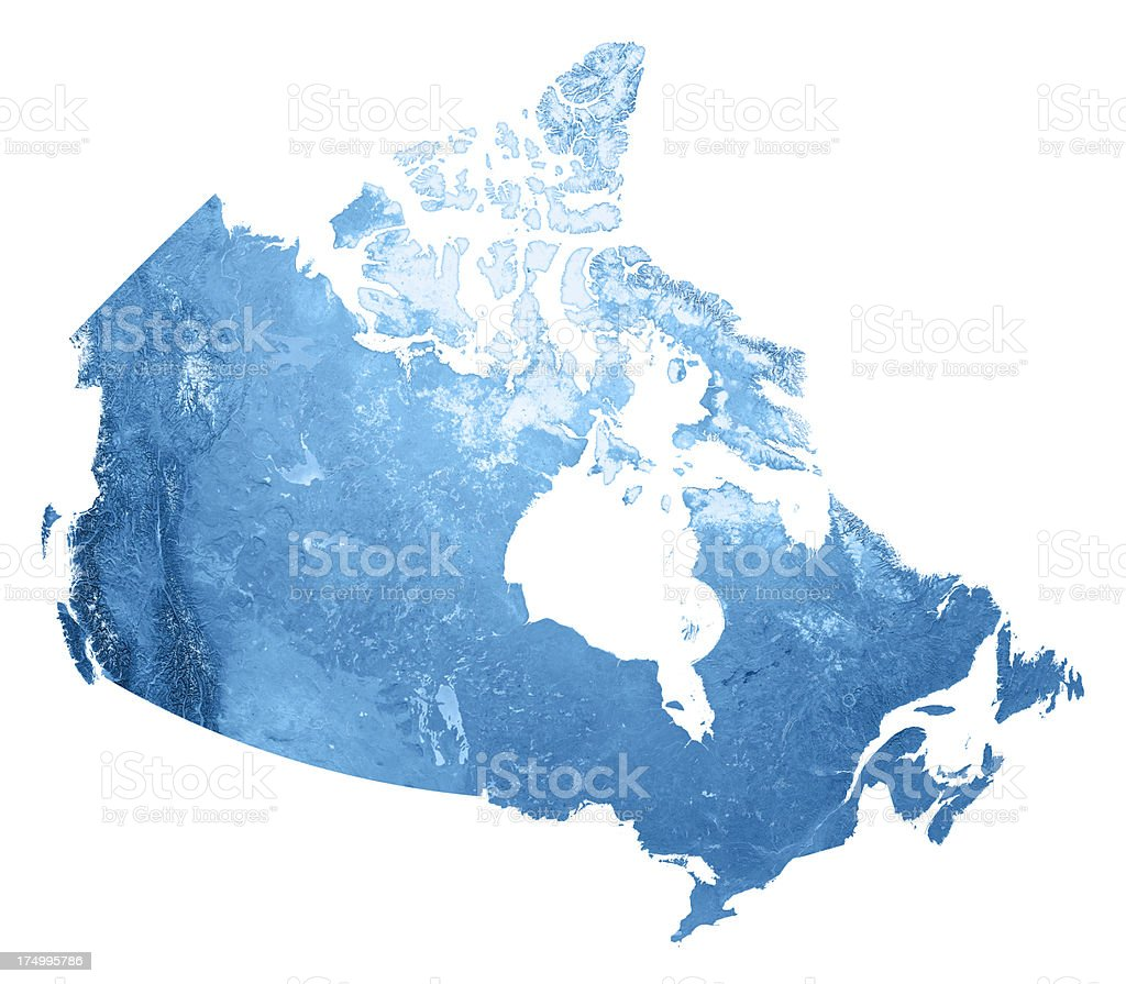 Canada Topographic Map Isolated stock photo