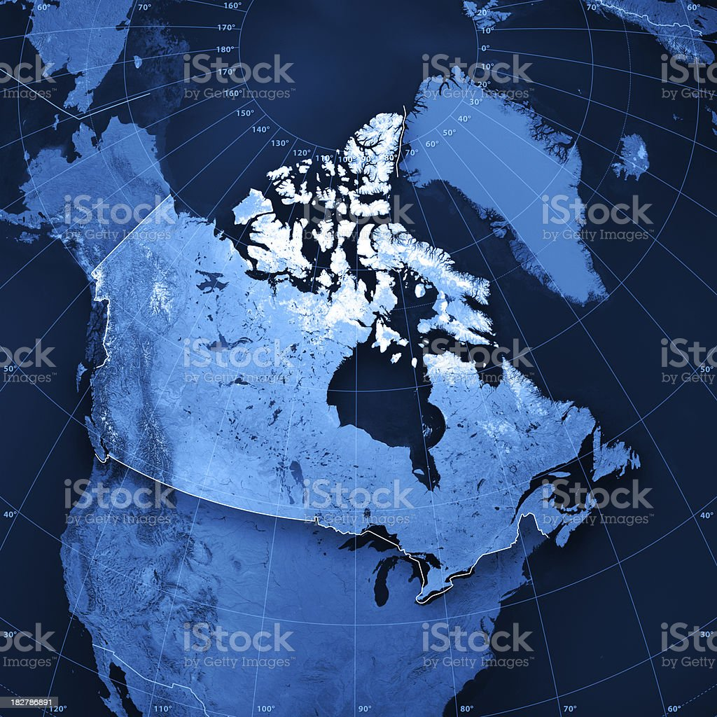 Canada Topographic Map royalty-free stock photo
