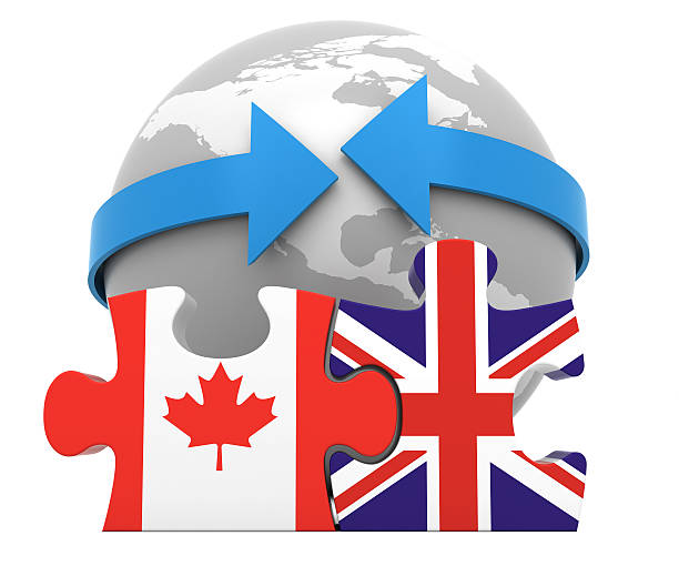 Canada UK Free Trade Concept stock photo