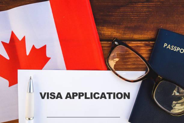 Canada visa application stock photo