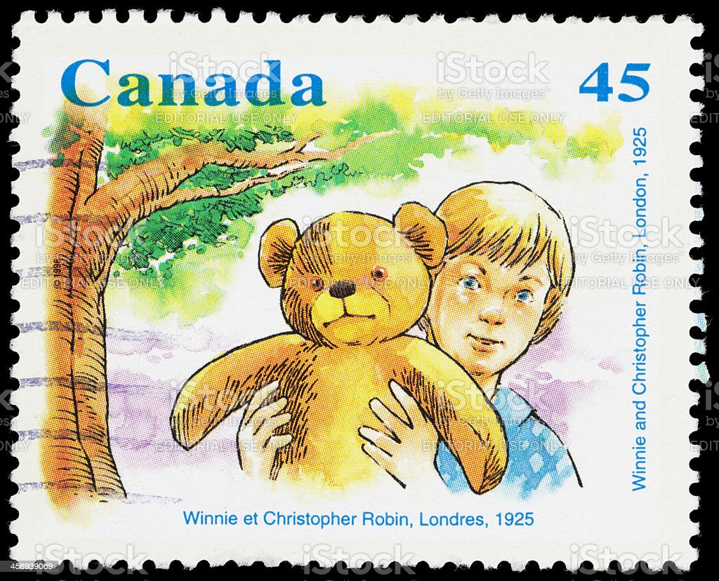 Canada Winnie The Pooh Postage Stamp Stock Photo More Pictures Of