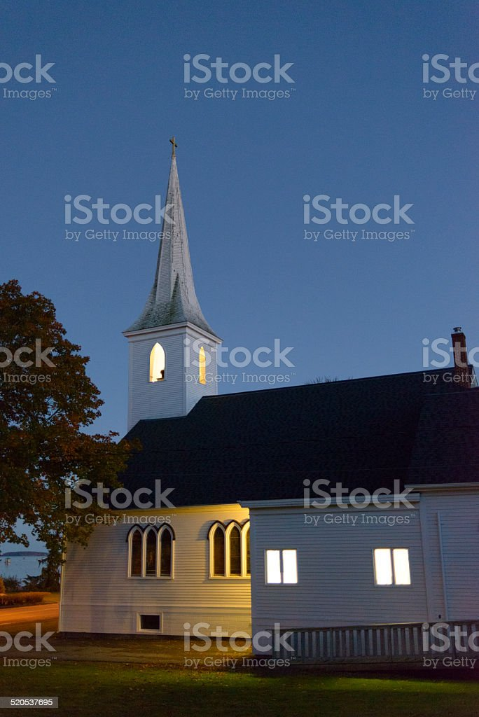 Canada - Wooden Church at Dusk royalty-free stock photo