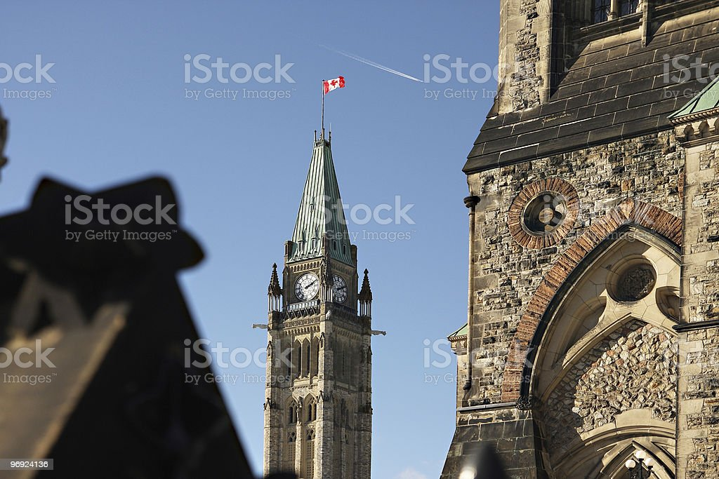Canada's Peace Tower royalty-free stock photo