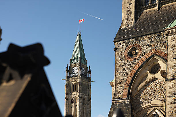 Canada's Peace Tower stock photo