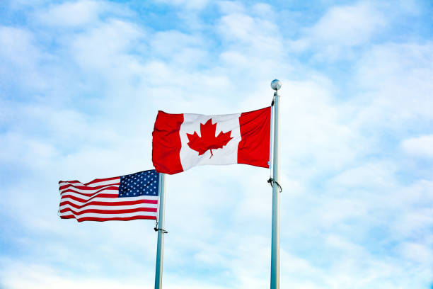 2,650 Canadian American Flag Stock Photos, Pictures & Royalty-Free Images - iStock