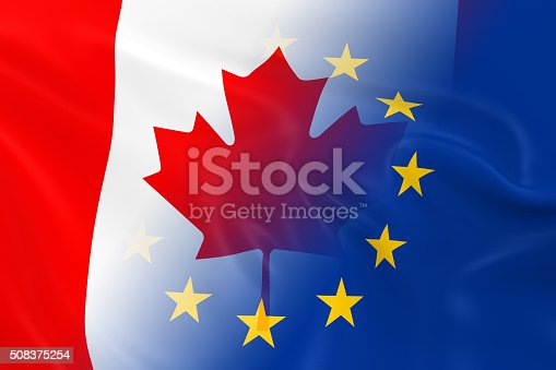 istock Canadian and European Relations Concept Image 508375254